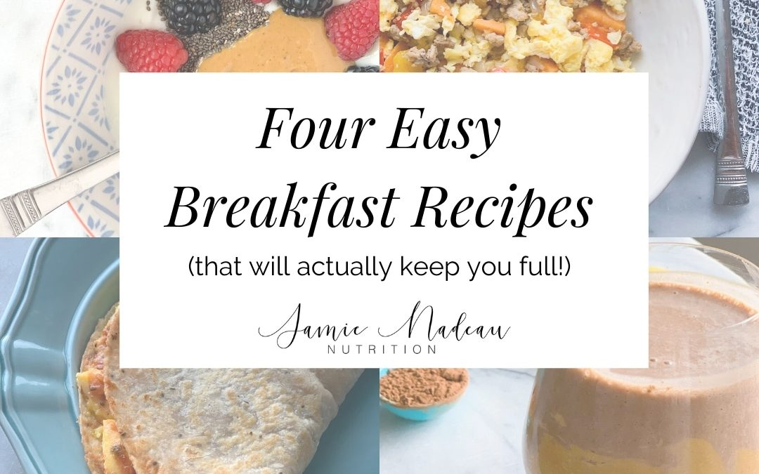 Sweet and Savory Breakfast Ideas: 4 Easy and Healthy Options